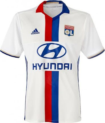 Lyon 16 17 Home Kit Jersey a France | Soccer shirts, Soccer