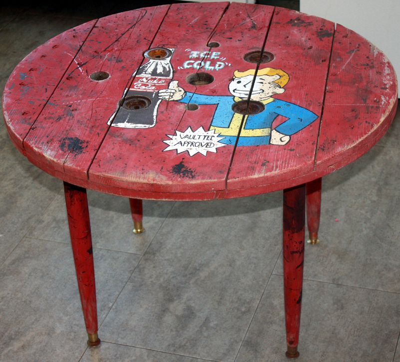 Fallout Man Cave Coffee Table Red Nuka