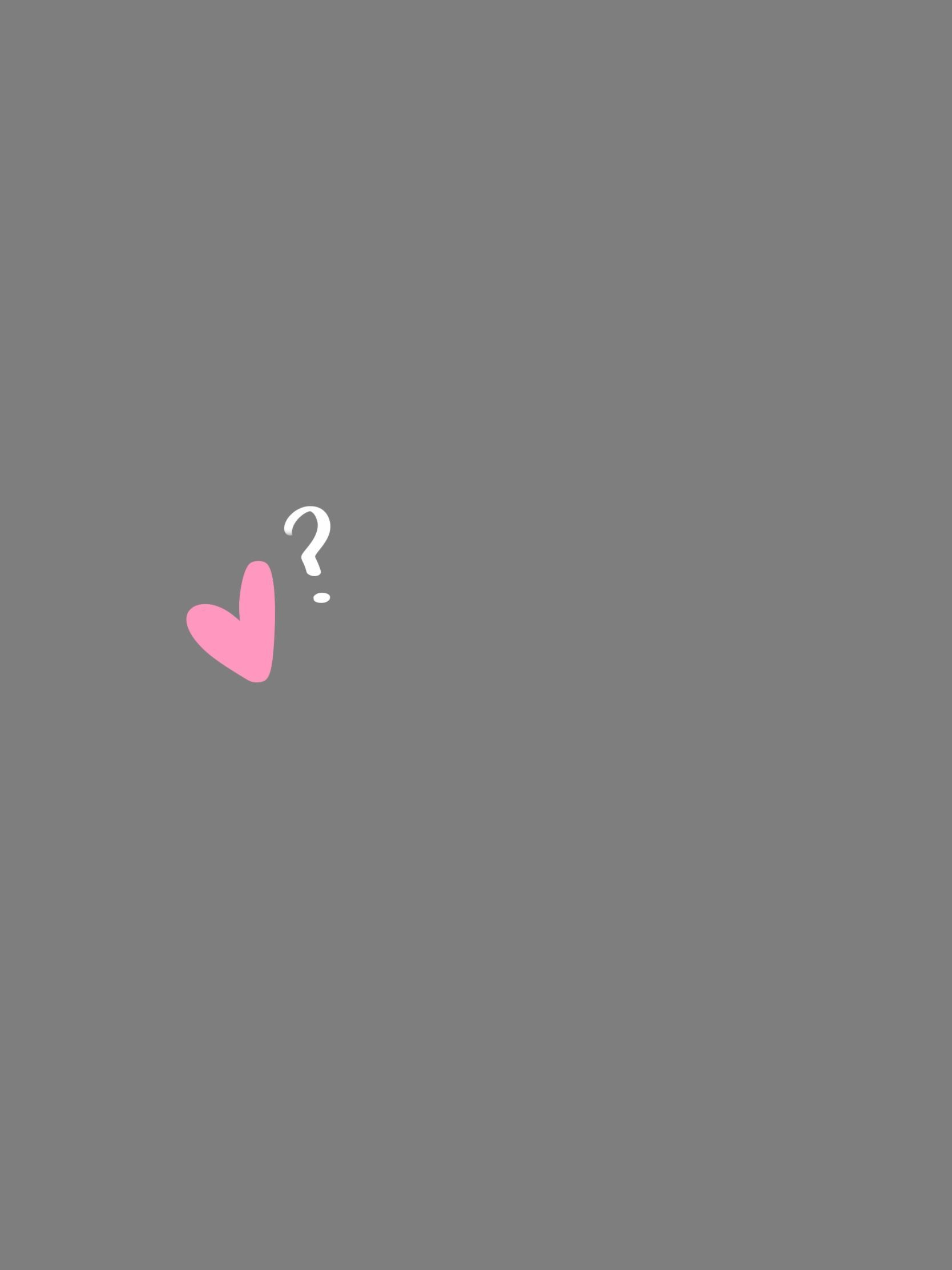 Love Is Gray Background Pink Heart White Question Mark Iphone Wallpaper Procreate Dr Wallpaper Iphone Love Grey Wallpaper Iphone Pink And Grey Wallpaper