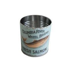 Blik Fresh Salmon van UNC. Leuk om bestek in te zetten!