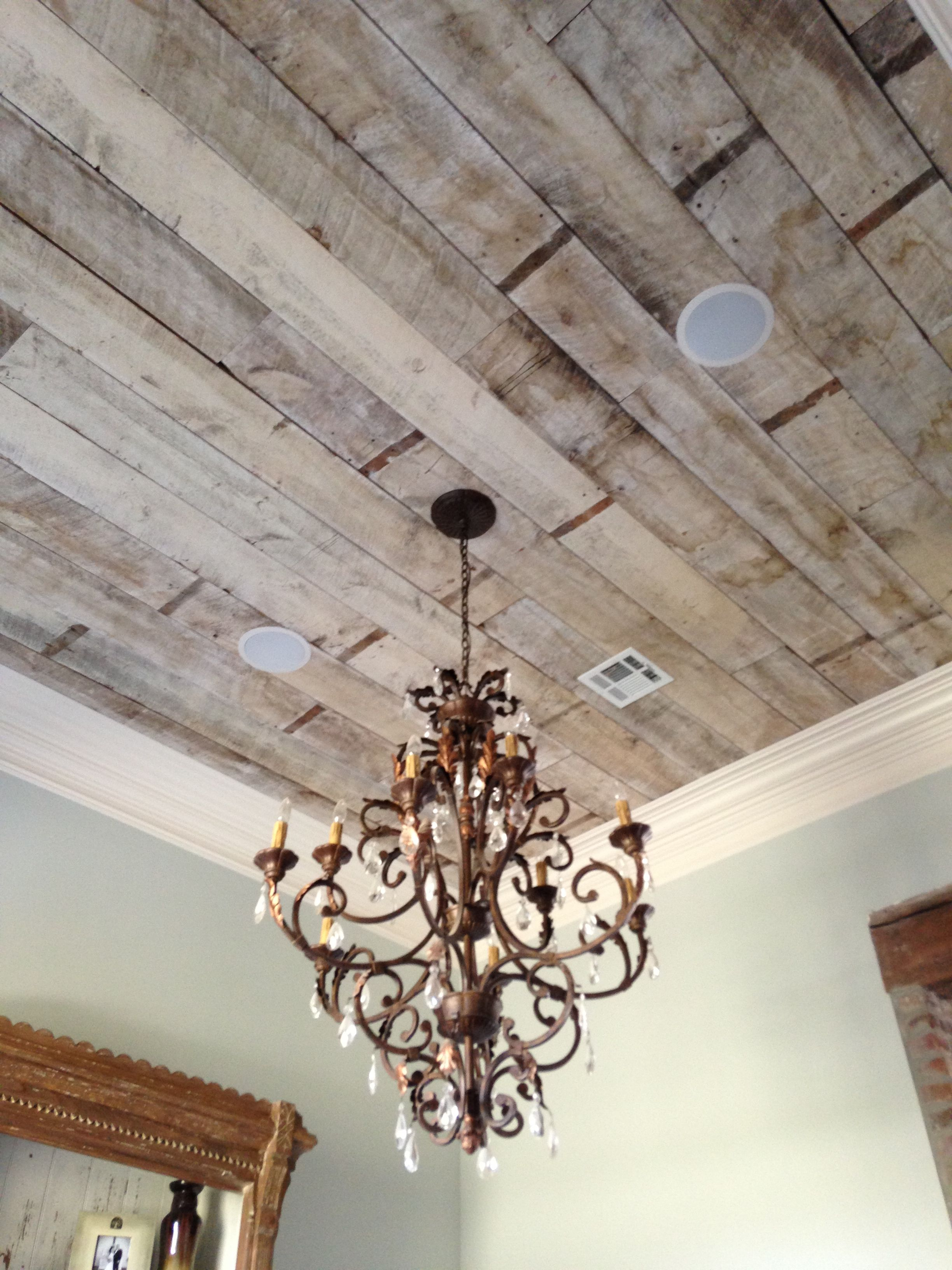 Antique White Wash Pine Ceiling Our