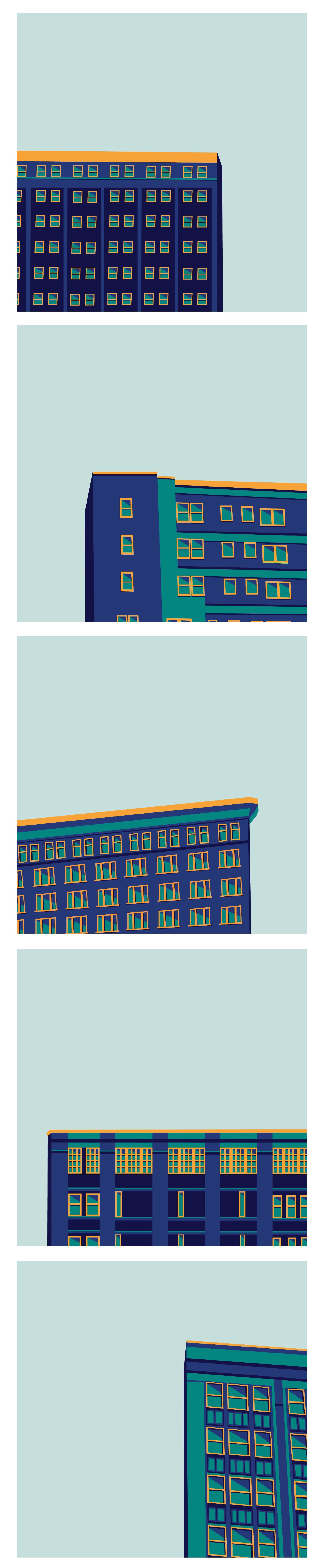 "Pop-art inspired KC buildings - ""A Book of Numbers"" / Annie Dreyer #graphicdesign"