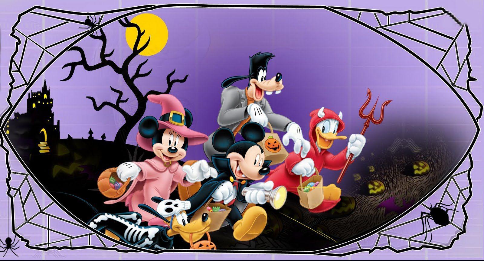 Halloween Wallpaper: October 2011 | Mickey and Minnie | Pinterest
