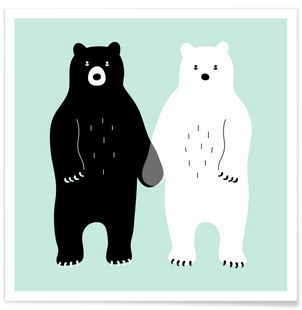 Two Bears - Andy Westface - Premium Poster