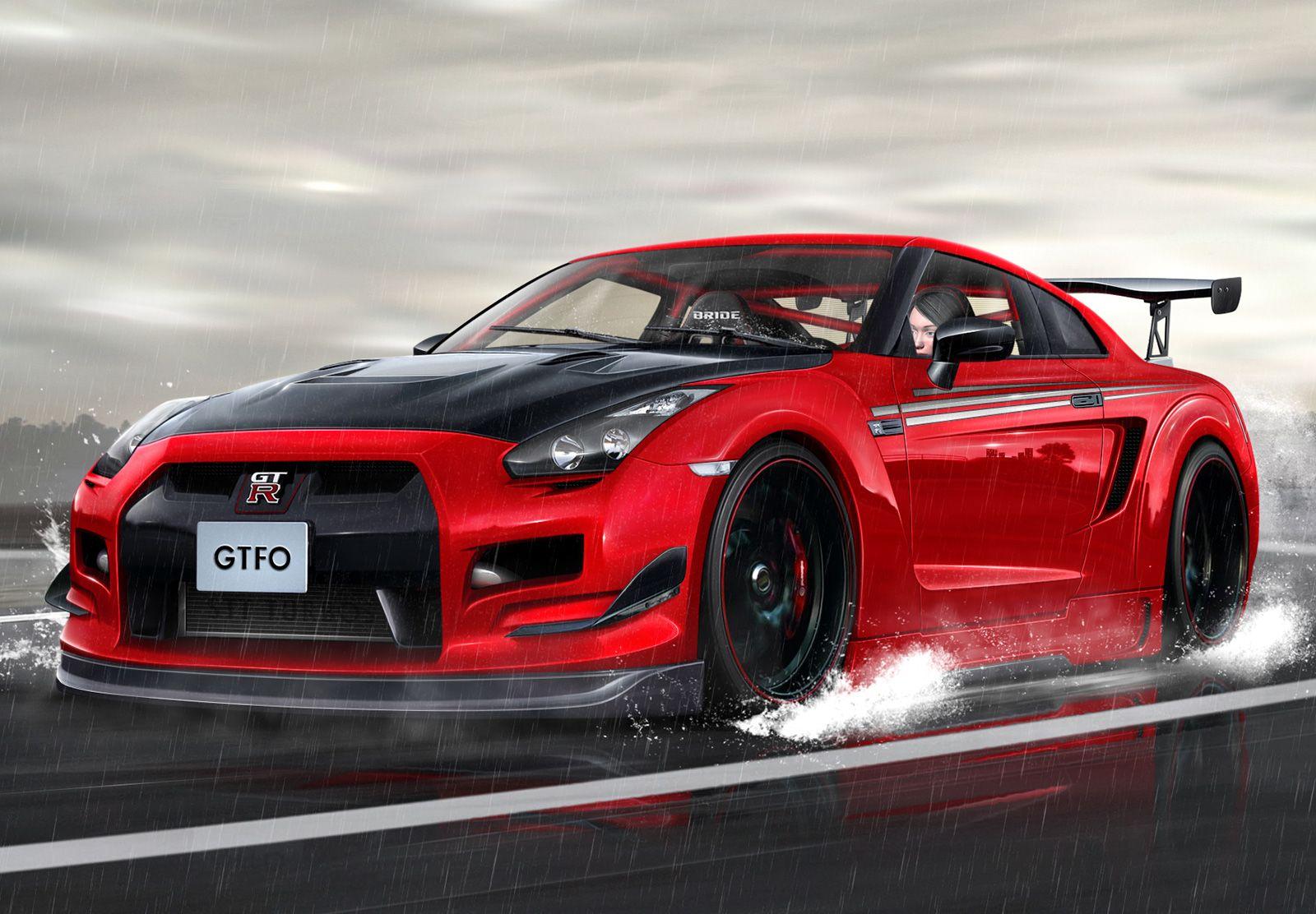 Nissan Skyline GTR Red R35 wallpaper Nissan skyline