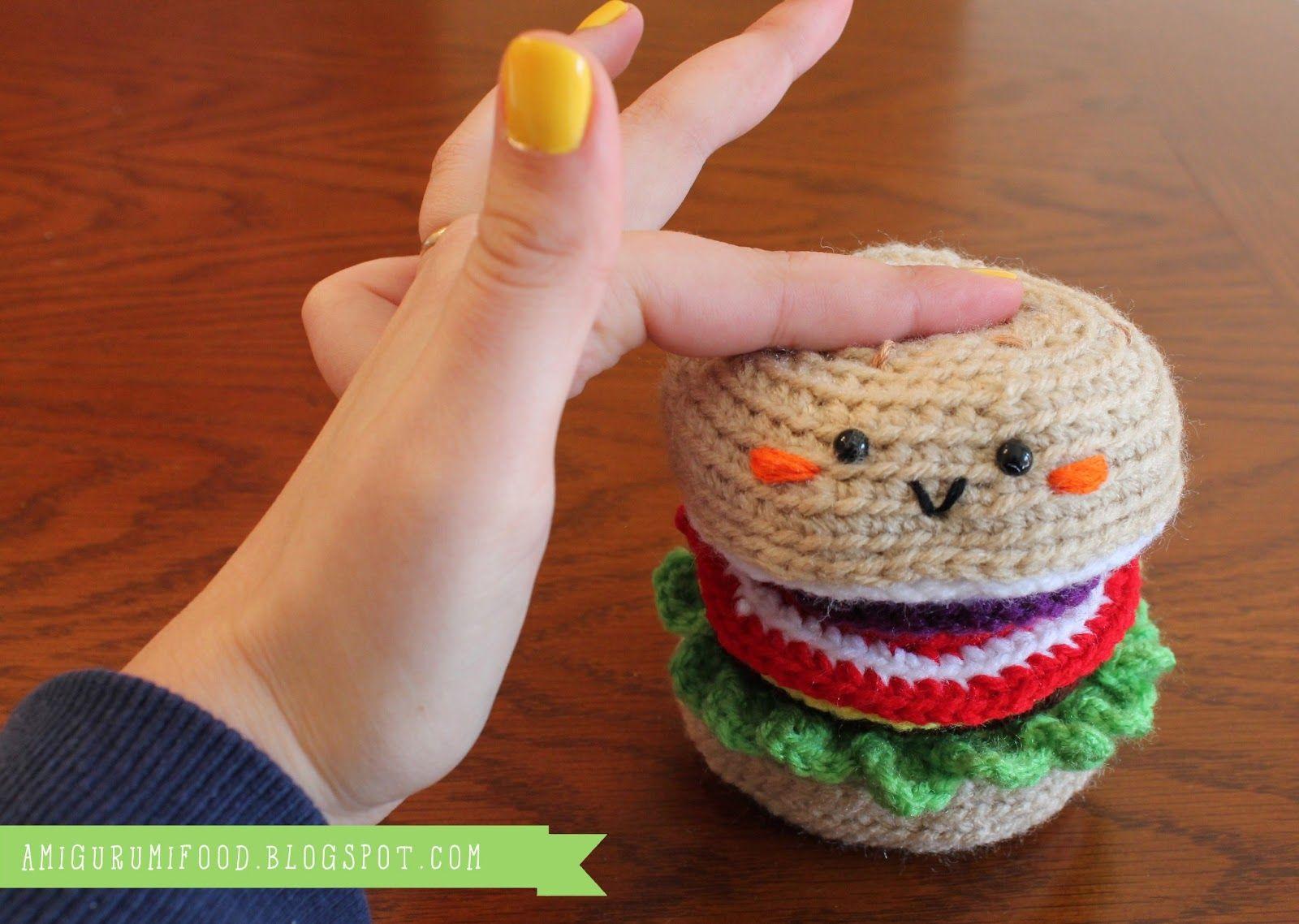 Cheeseburger Amigurumi Free Pattern-Hamburguesa Amigurumi | Crochet ...
