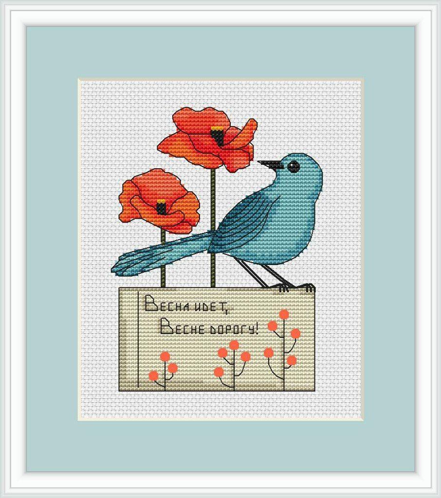Мои схемы вышивок – 19 фотографий   Птички, Вышивка ...