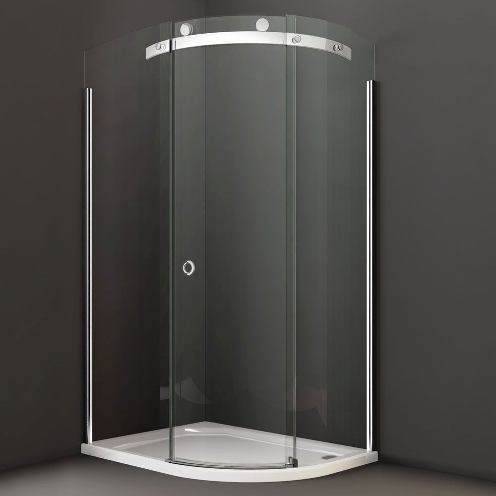 Merlyn Series 10 Offset Quadrant Shower Door 1200mm X 900mm 10mm Smoked Glass Right Handed M10 Quadrant Shower Quadrant Shower Enclosures Shower Enclosure