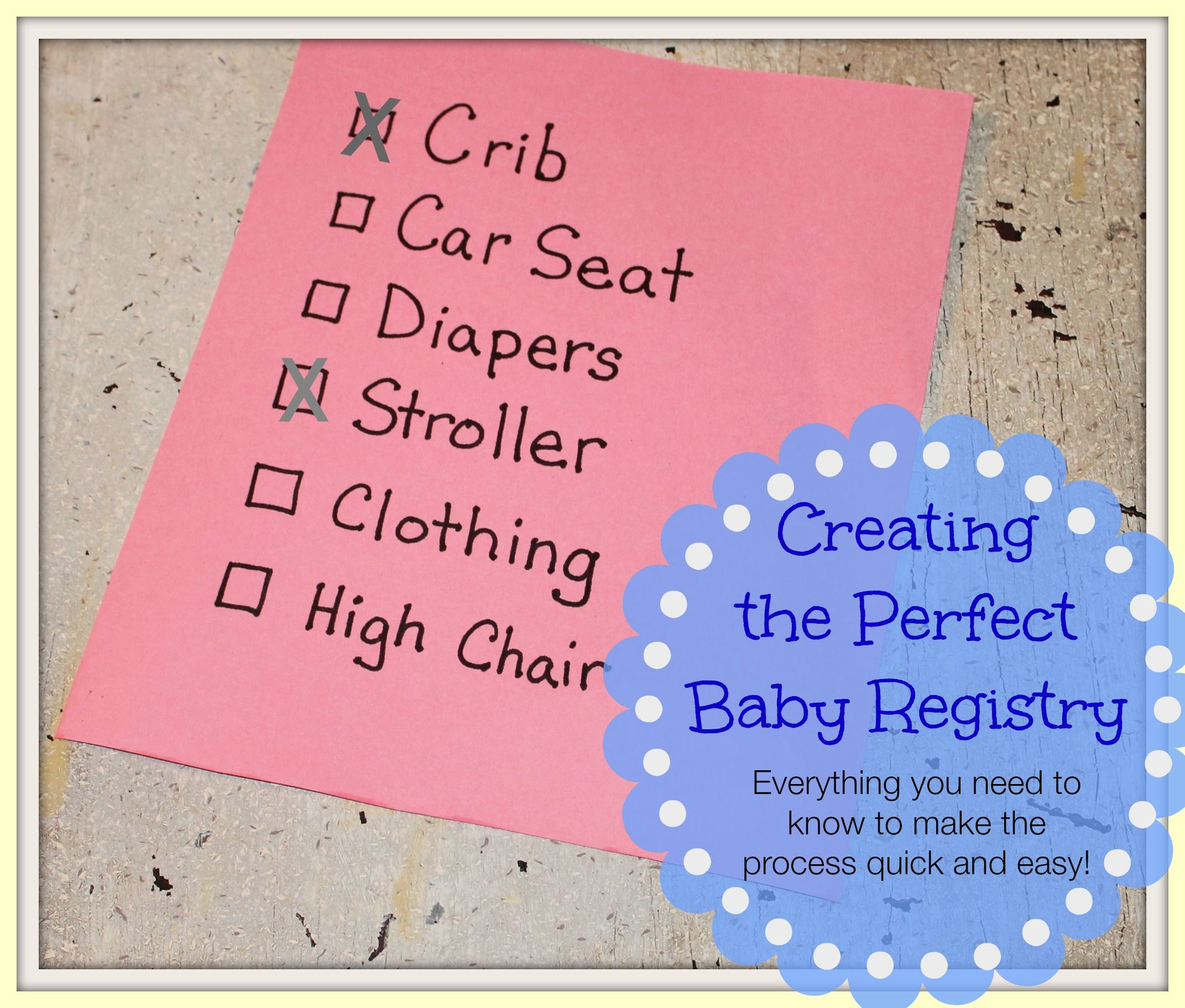 Tips and Advice to Create the Perfect Baby Registry Baby