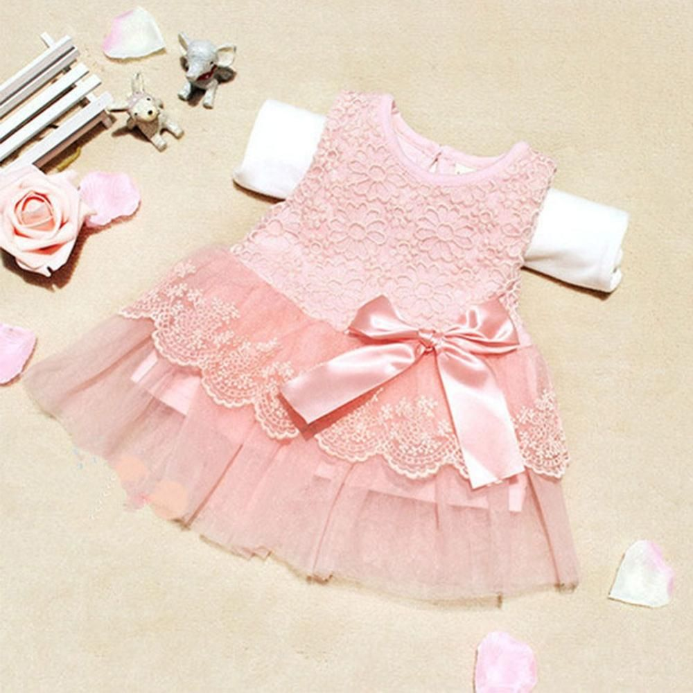 Hot Sale Fashion Cute Sweet Baby Kids Girls Princess Formal Lace ...