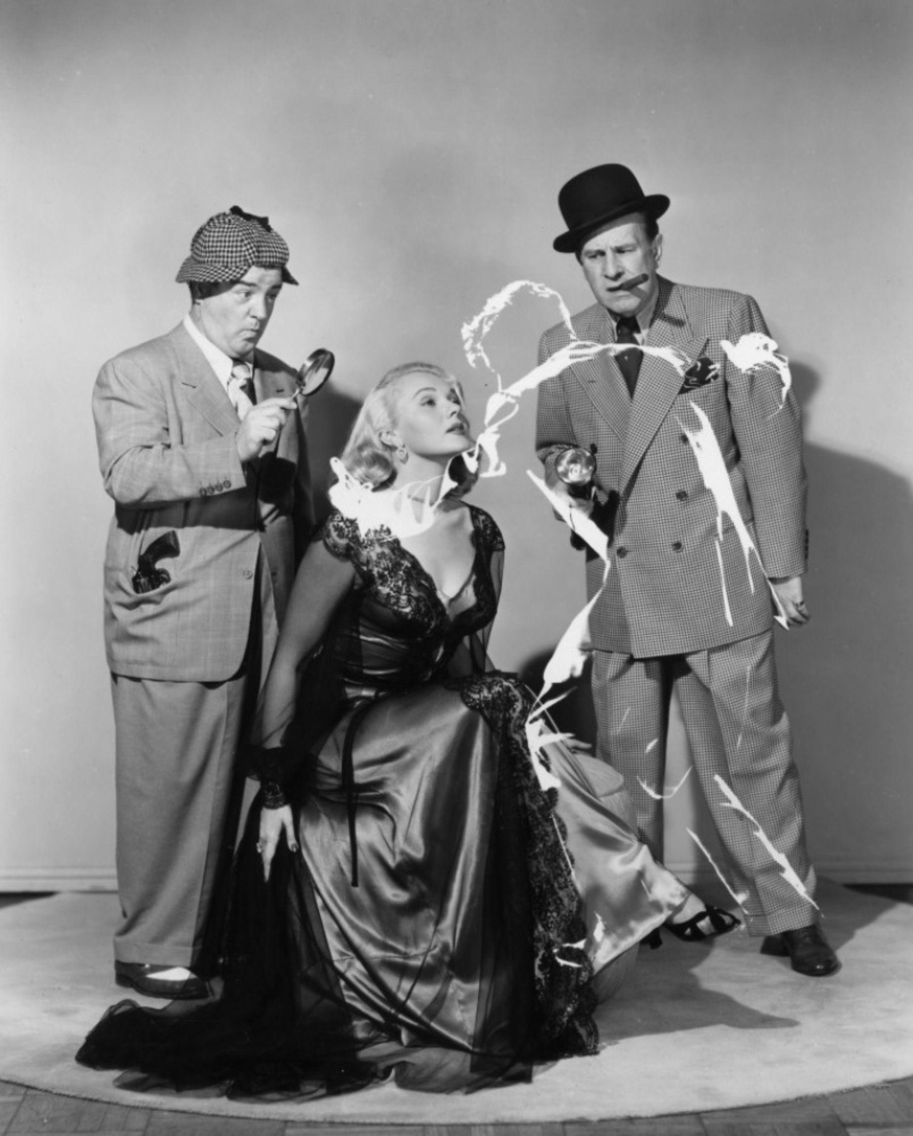 Lou Costello Adele Jergens And Bud Abbott Abbott And Costello
