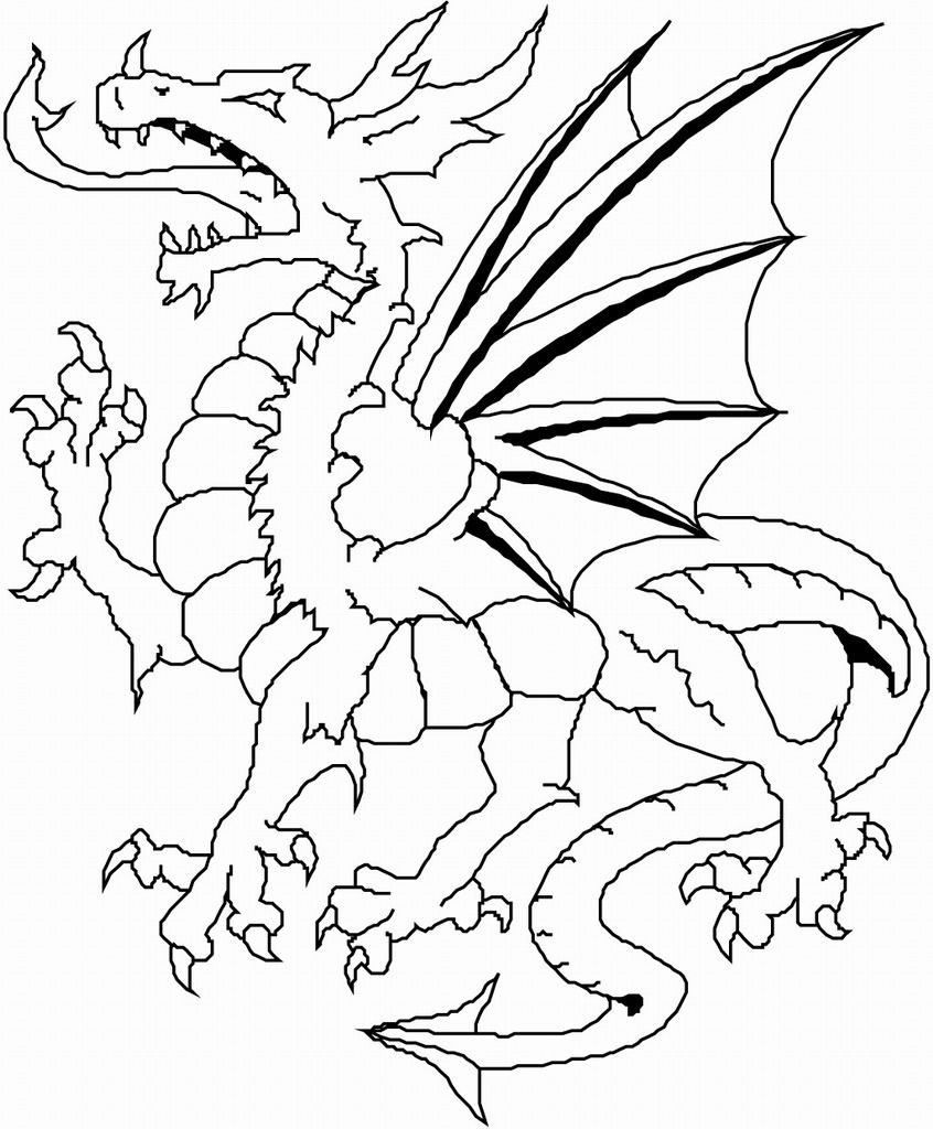 angry dragon coloring book - Dragon Coloring Books