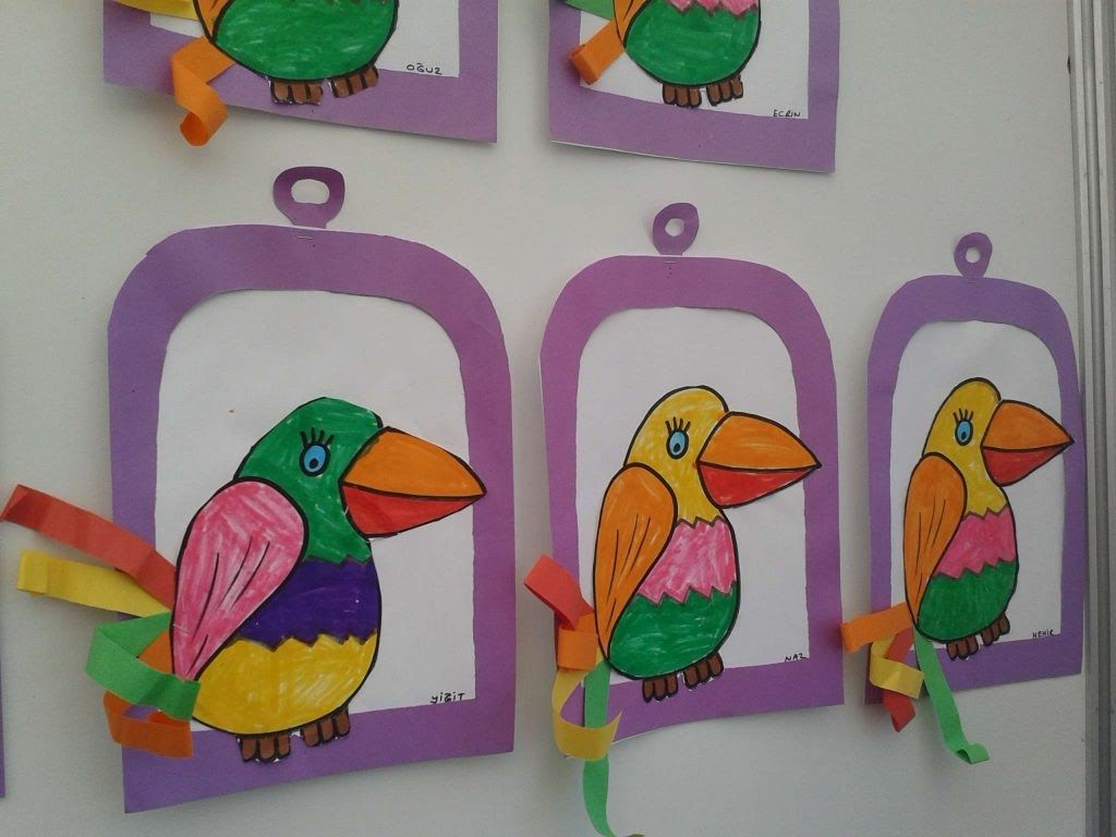 Parrot Craft Idea For Kids