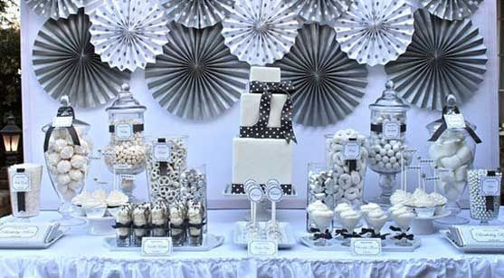 6 Exciting ideas to celebrate 25th wedding anniversary - Best ... | New years party themes. Anniversary decorations. 25th wedding anniversary
