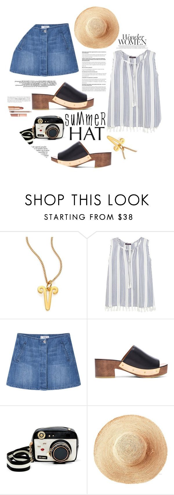 """Untitled #293"" by natalie1523 ❤ liked on Polyvore featuring Chloé, Violeta by Mango, MANGO, Rosetta Getty, Betsey Johnson, Toast, Dolce Vita and summerhat"