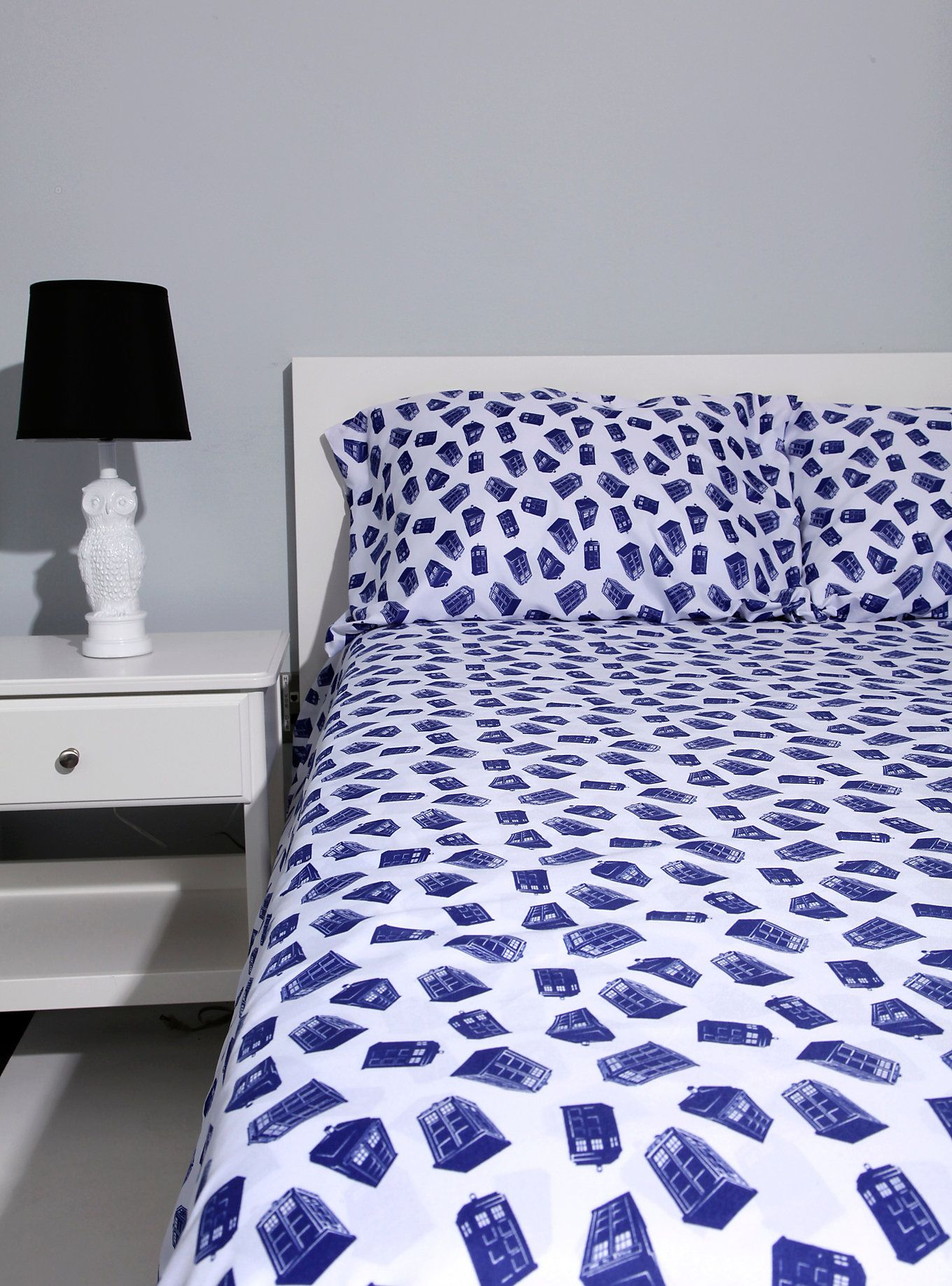 Doctor who tardis queen sheet set home sleep pinterest