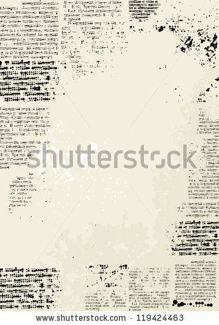grunge frame vertical design imitation newspaper stock vector
