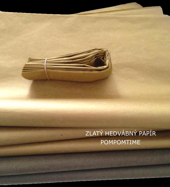 Zlatý hedvábný papír Pompomky ze zlatého hedvábného papíru Různé velikosti 631db457005