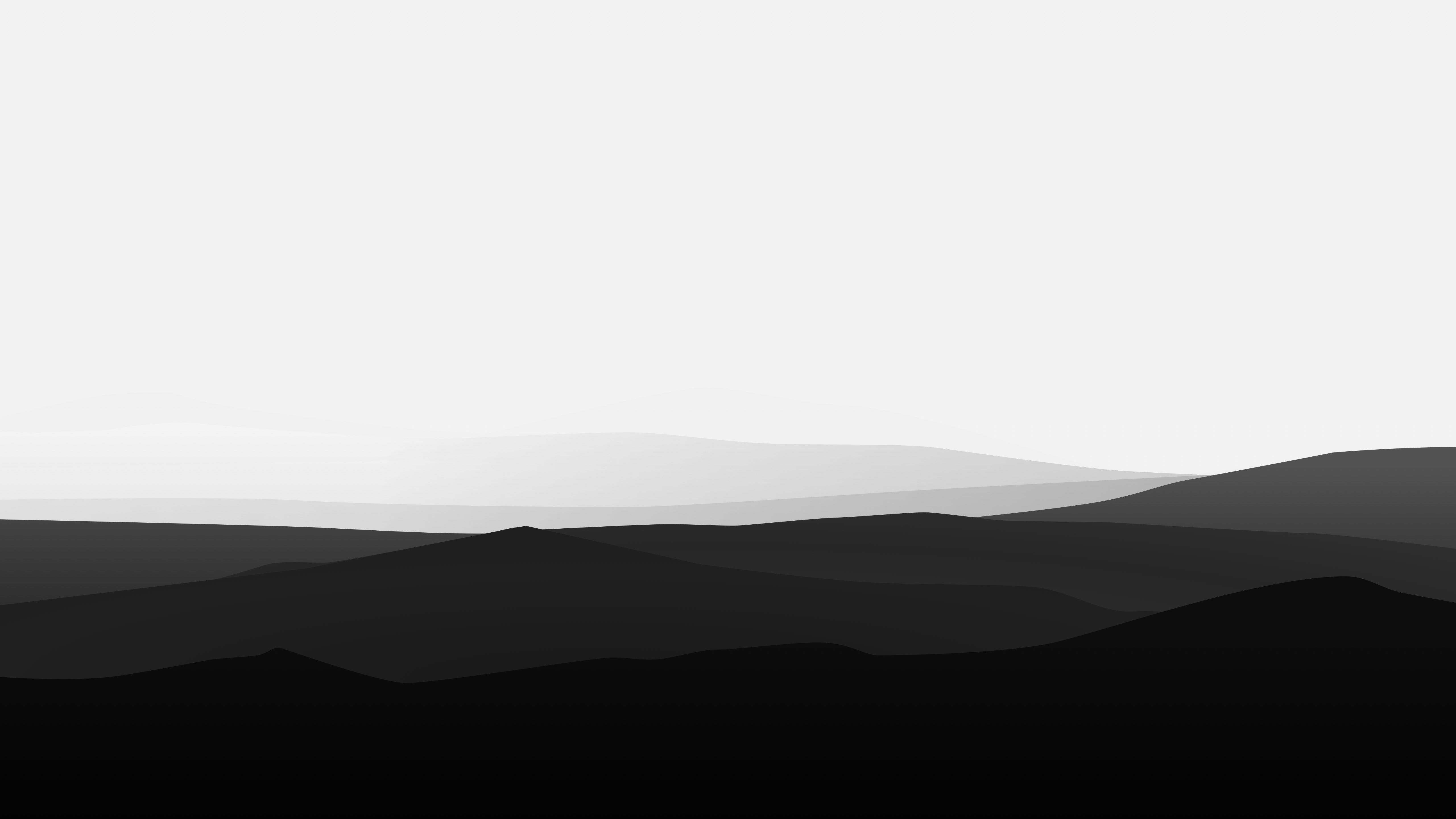 Artistic Minimalism Black And White Minimalist Mountain 5k Wallpaper Hdwal In 2020 Desktop Wallpaper Black Black And White Wallpaper Aesthetic Desktop Wallpaper