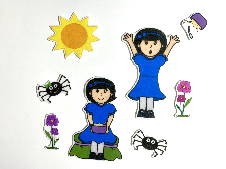 Little Miss Muffet Felt Stories