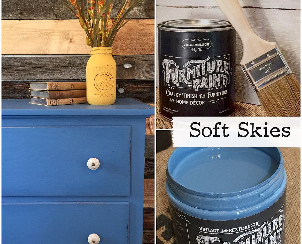 No Prep Furniture Paint ~ Soft Skies