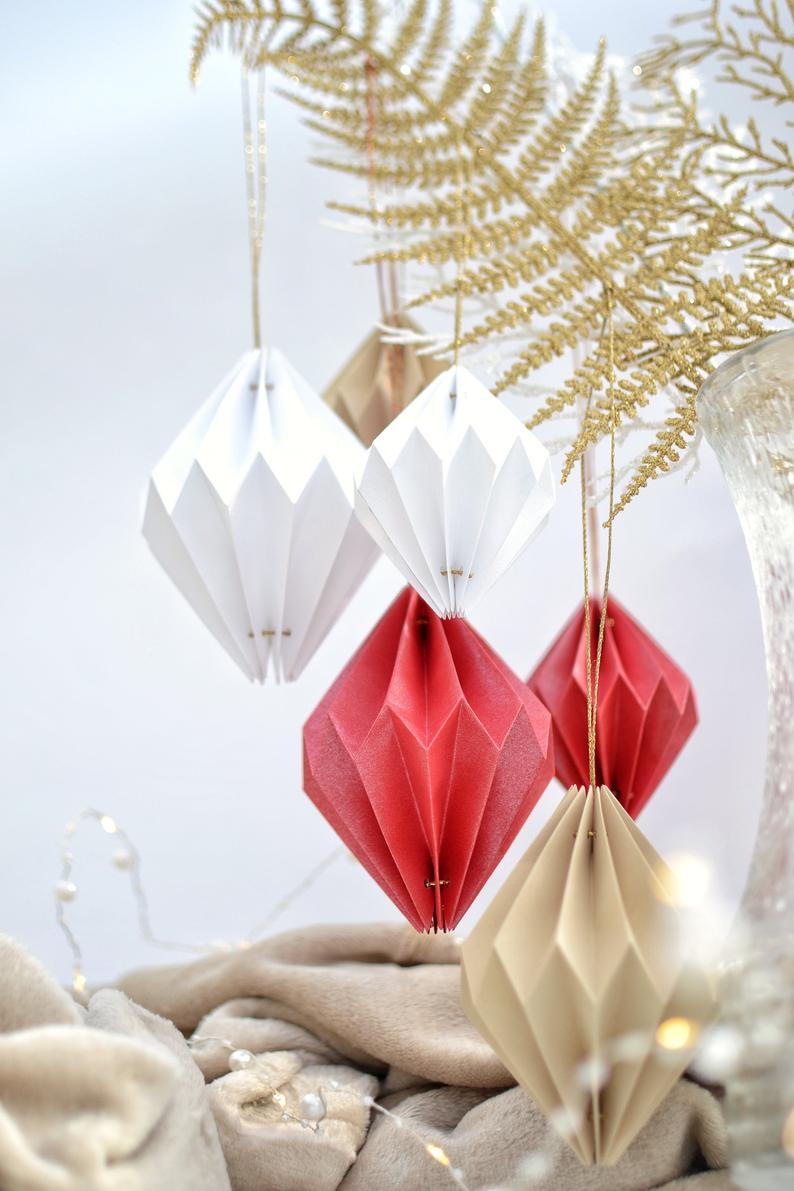 Origami Christmas Ornament Luxury Unique Geometric Origami Christmas Tree Ball For Christmas New Year Event Celebration Party Classic Christmas Origami Origami Christmas Ornament Geometric Origami
