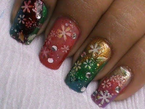 Magic Nails Colorful Glitter Easy Nail Art For Short Nails Nail