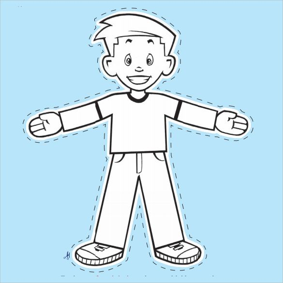 Flat Stanley Template Blank  Free Coloring Pages