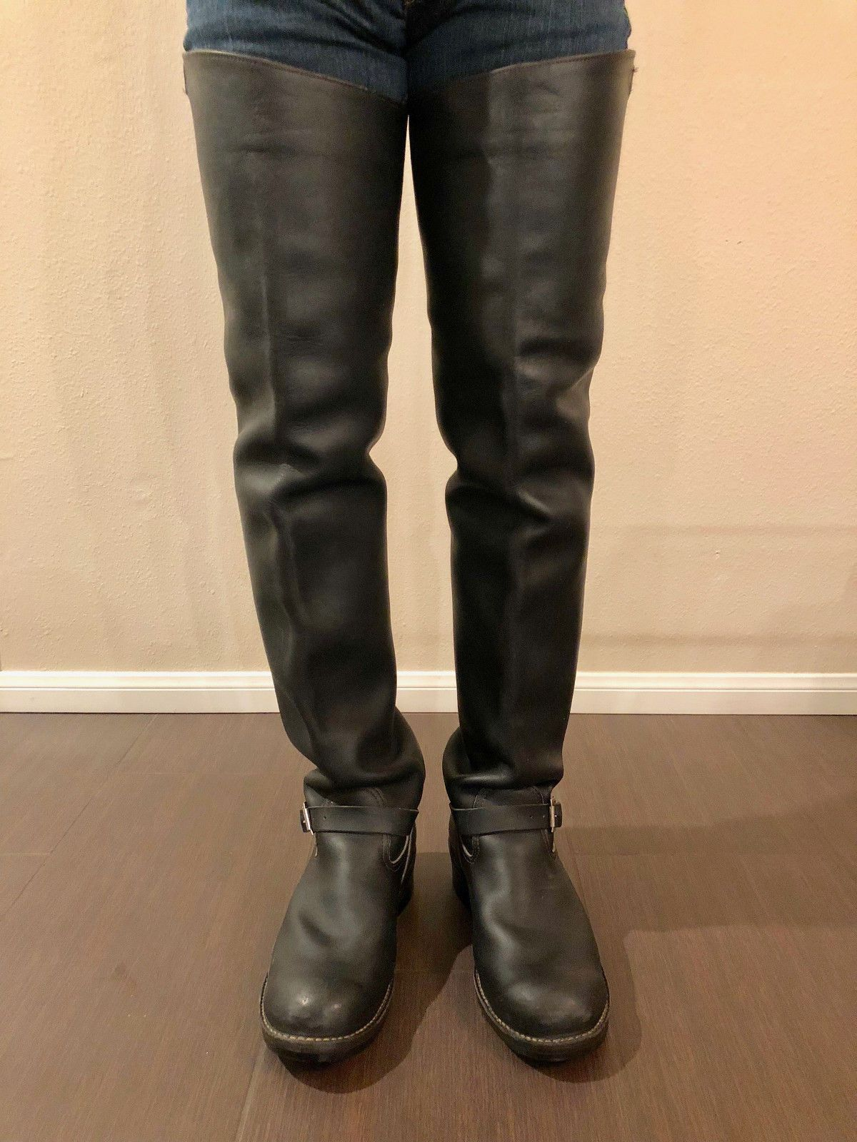 Used Wesco Thigh High Engineer Big Boss Boots Size 13
