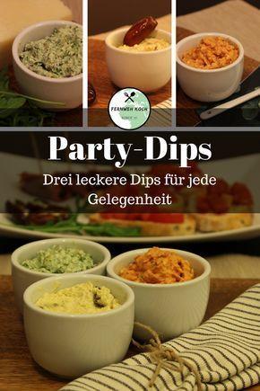Die glorreichen Drei - Tolle Dips für die nächste Party