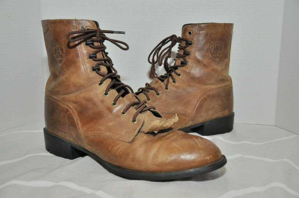 719483e99fc MENS ARIAT BOOTS WESTERN Heritage Lacer Boots 11 D Style 32525 ...