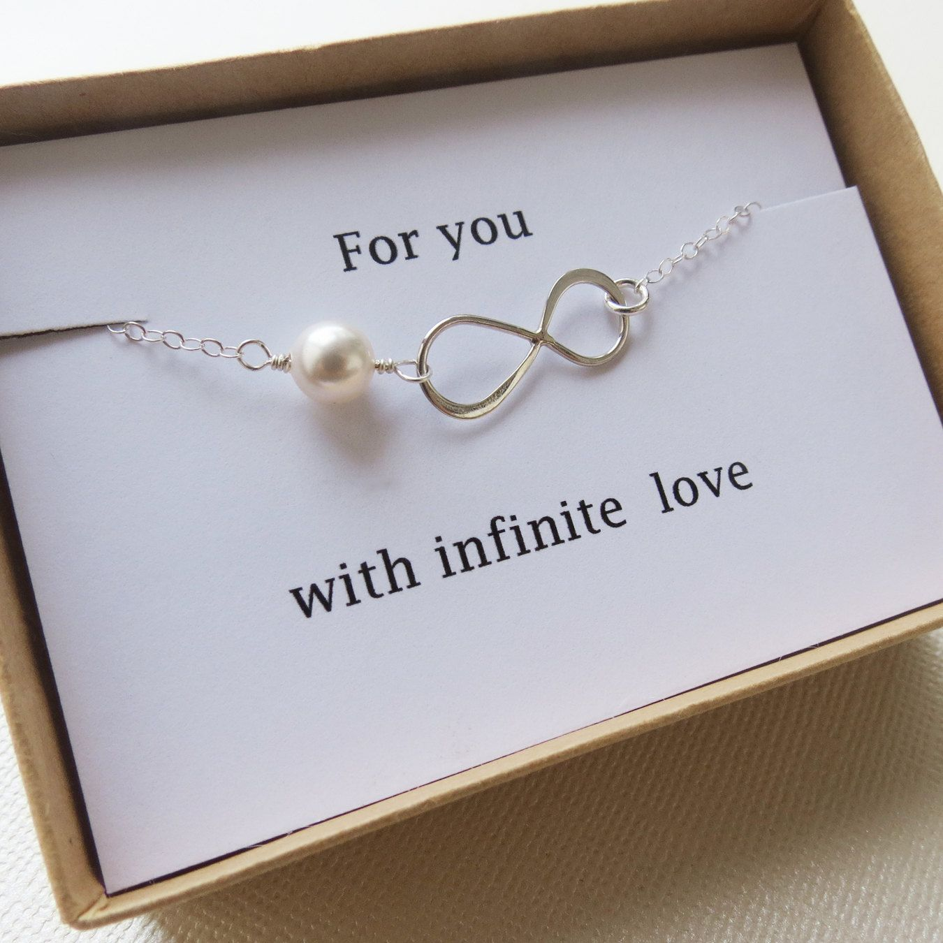 Infinity Bracelet - LOVE - Holiday Gift - Infinity Jewelry - Card ...