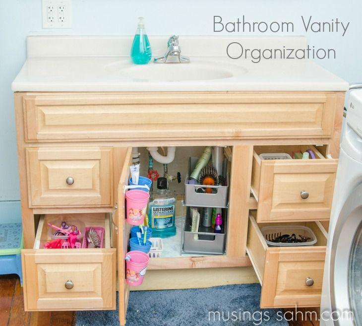 How I Organized Our Bathroom Vanity