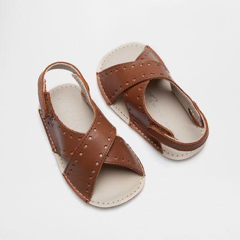 CHAUSSON BÉBÉ SANDALE CUIR - Bébé - Vêtements & chaussures | Zara Home France