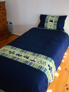 Big Boy Applique Quilt Cover | Cook Clean Craft