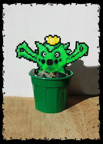 8 bit plant decoration pokemon cacnea in pot pixel art for 8 bit decoration