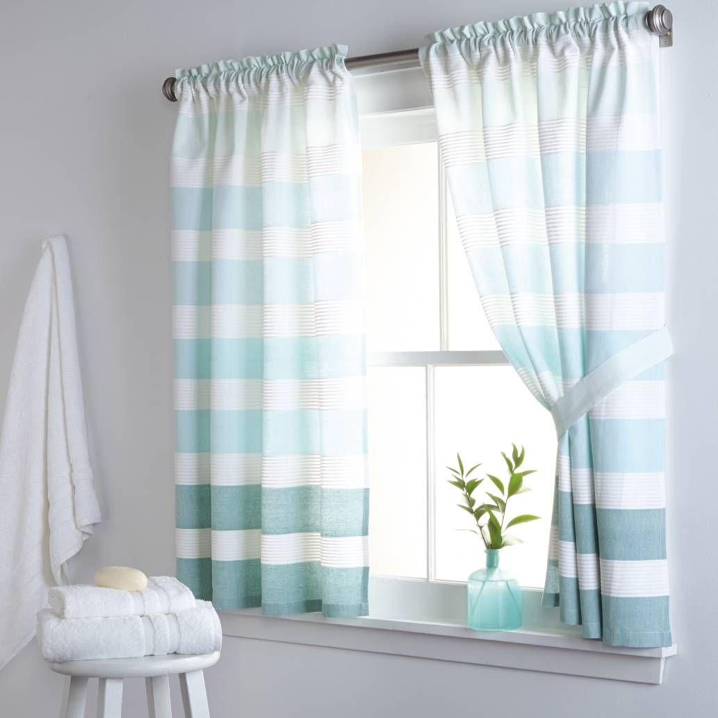 Bed bath and beyond window curtains  dkny highline stripe inch x inch cotton bath window curtain