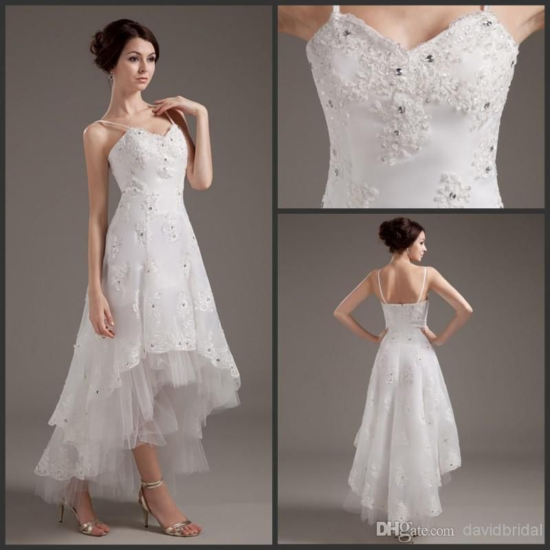 Wholesale High Quality Low Price Hi-Lo Wedding Dresses