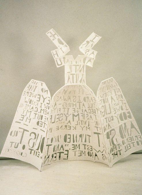 Lesley Dill Hinged Poem Dress 1991M M On