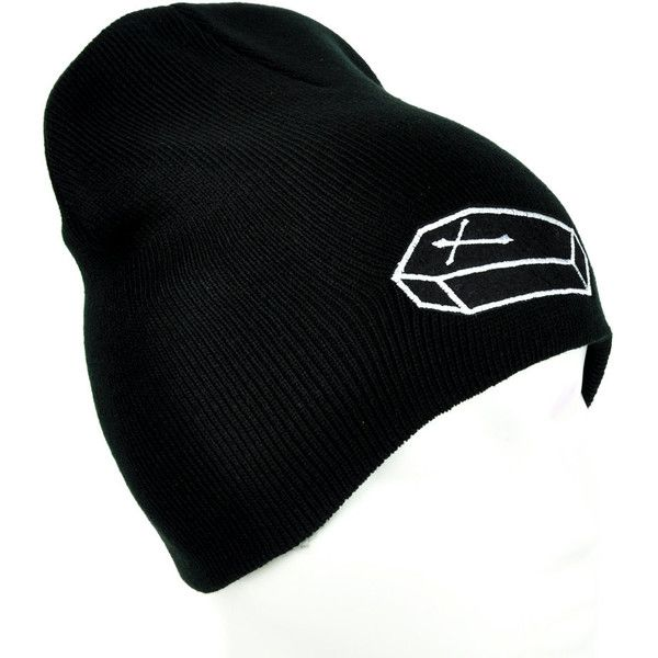 8a3db847181 Future Corpse Cross On Coffin Casket Black Knit Beanie Hat... ( 14 ...