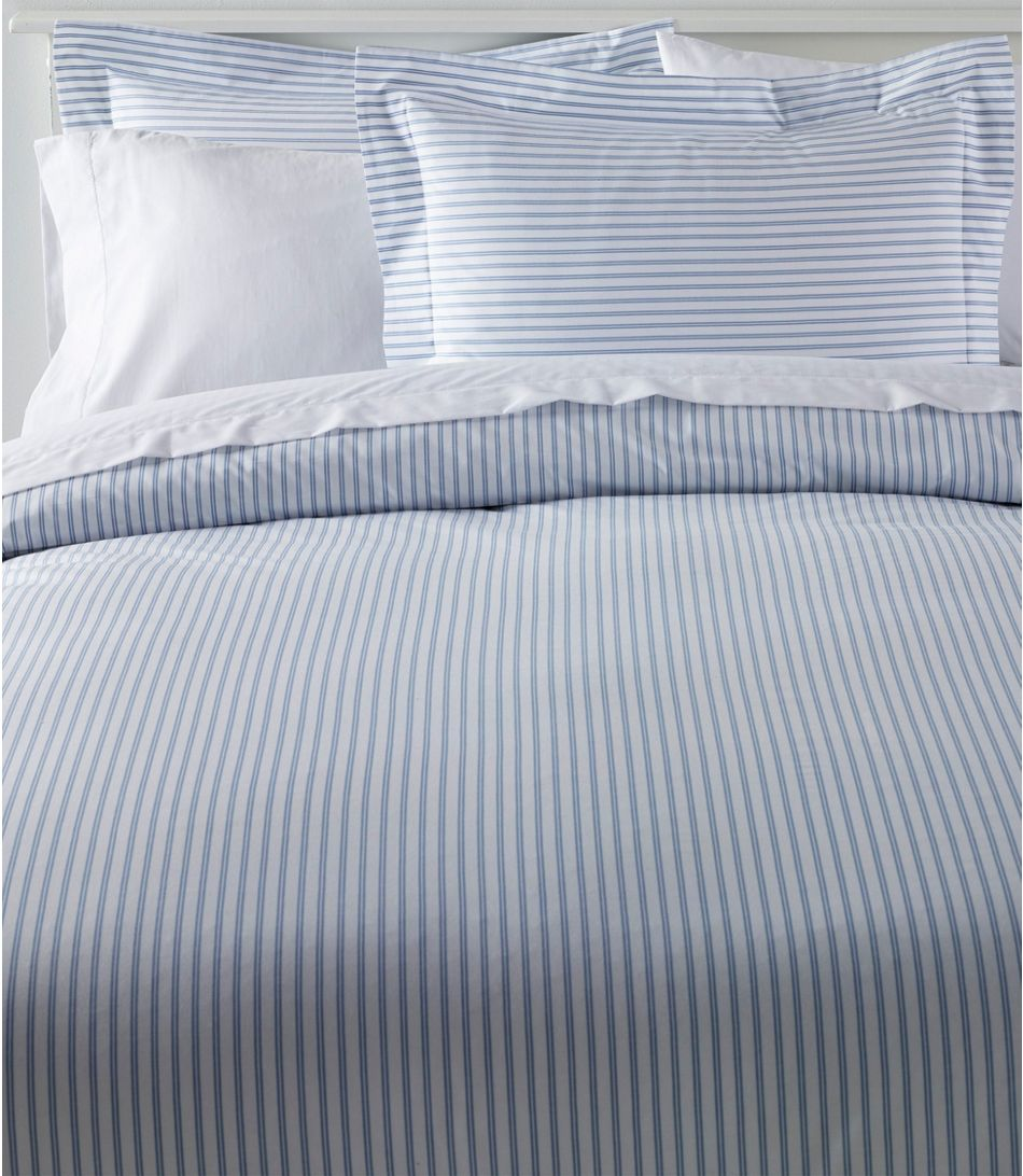 Photo of Premium Egyptian Percale Comforter Cover Collection, Stripe