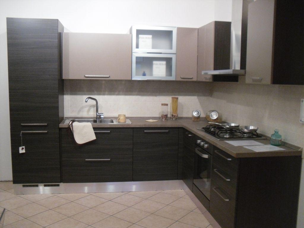 Cucina Luna rovere grigio - tabacco di Arredotre su www.outletmobili ...
