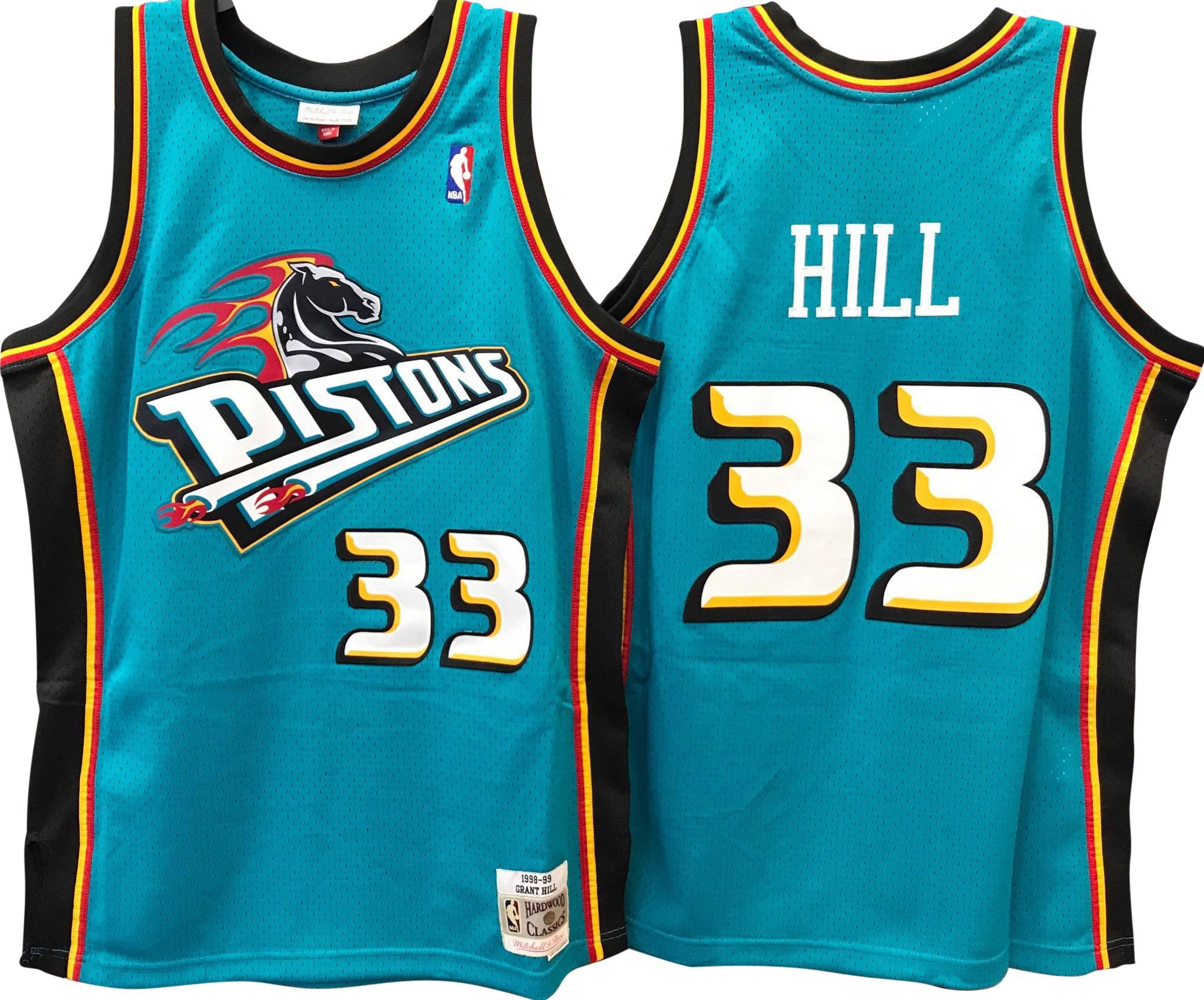 7910a7c81 GRANT HILL DETROIT PISTONS NBA HARDWOOD CLASSICS THROWBACK SWINGMAN JERSEY