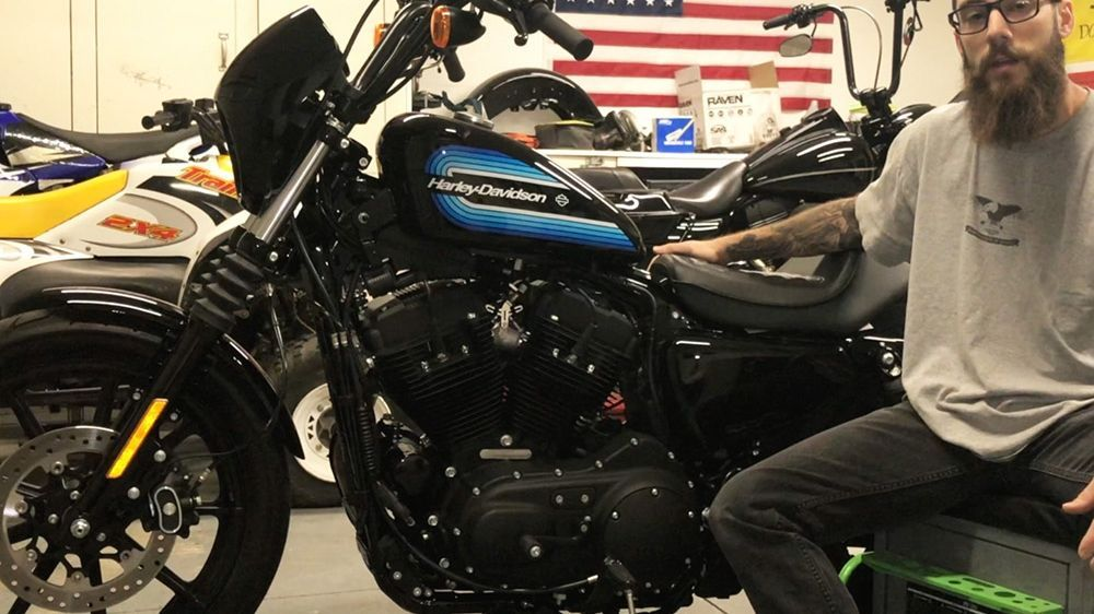 how to check oil on a harley sportster