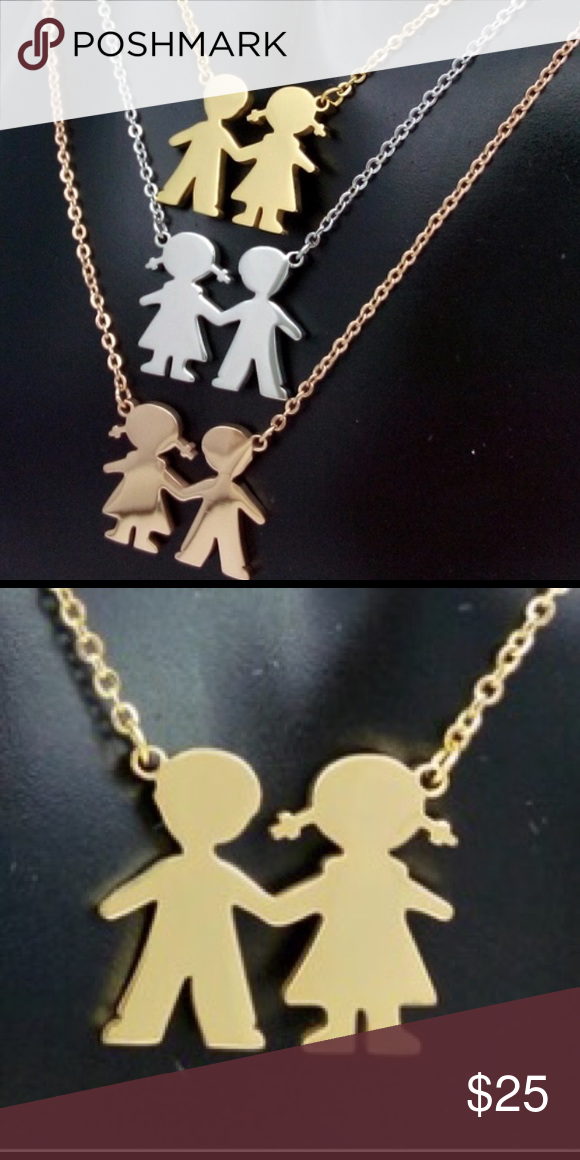 ⭐️just In⭐️ Boy Girl Gold Pendant Necklace Perfect For