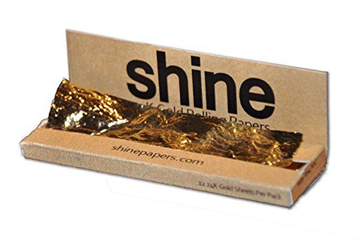 Shine 24k Gold Rolling Papers 12 Sheet Pack Rolling Paper Gold Paper Shine