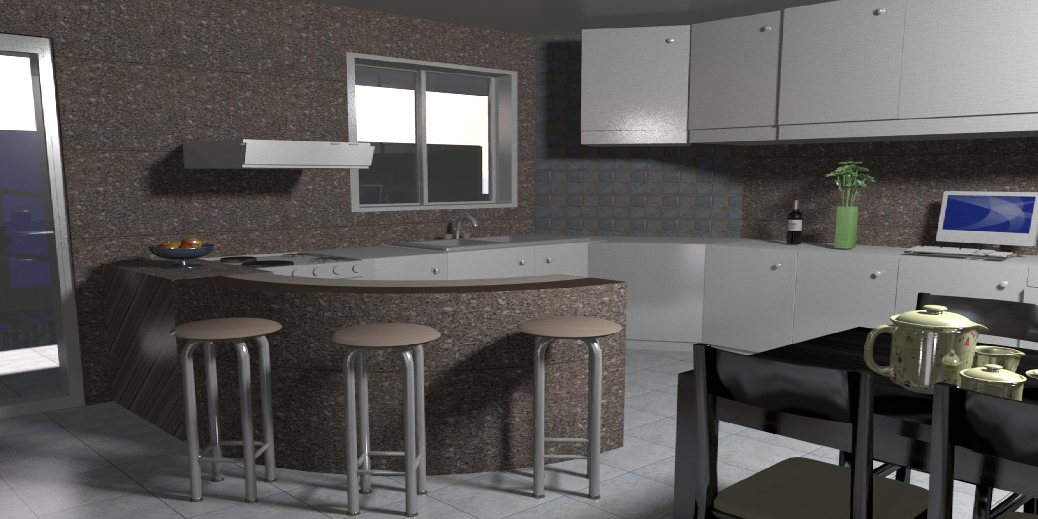 Cozinha - Apto edifício JV Bom Jardim de Minas - MG