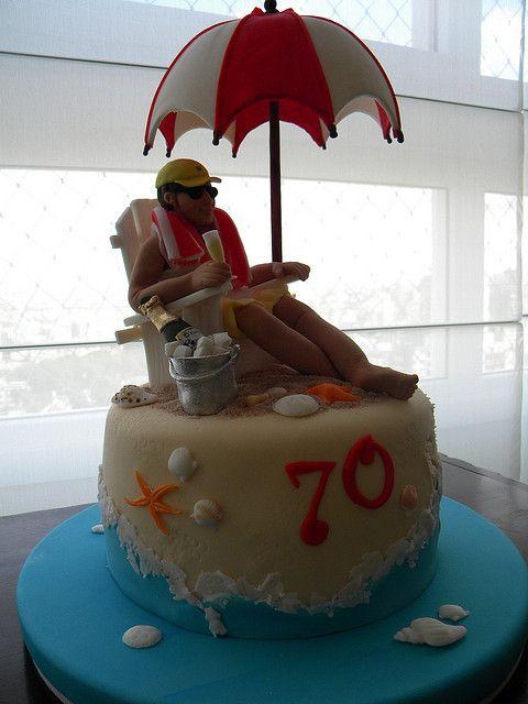 Bolo 70 Anos Na Praia Com Imagens Bolo Bolos Artisticos Bolo