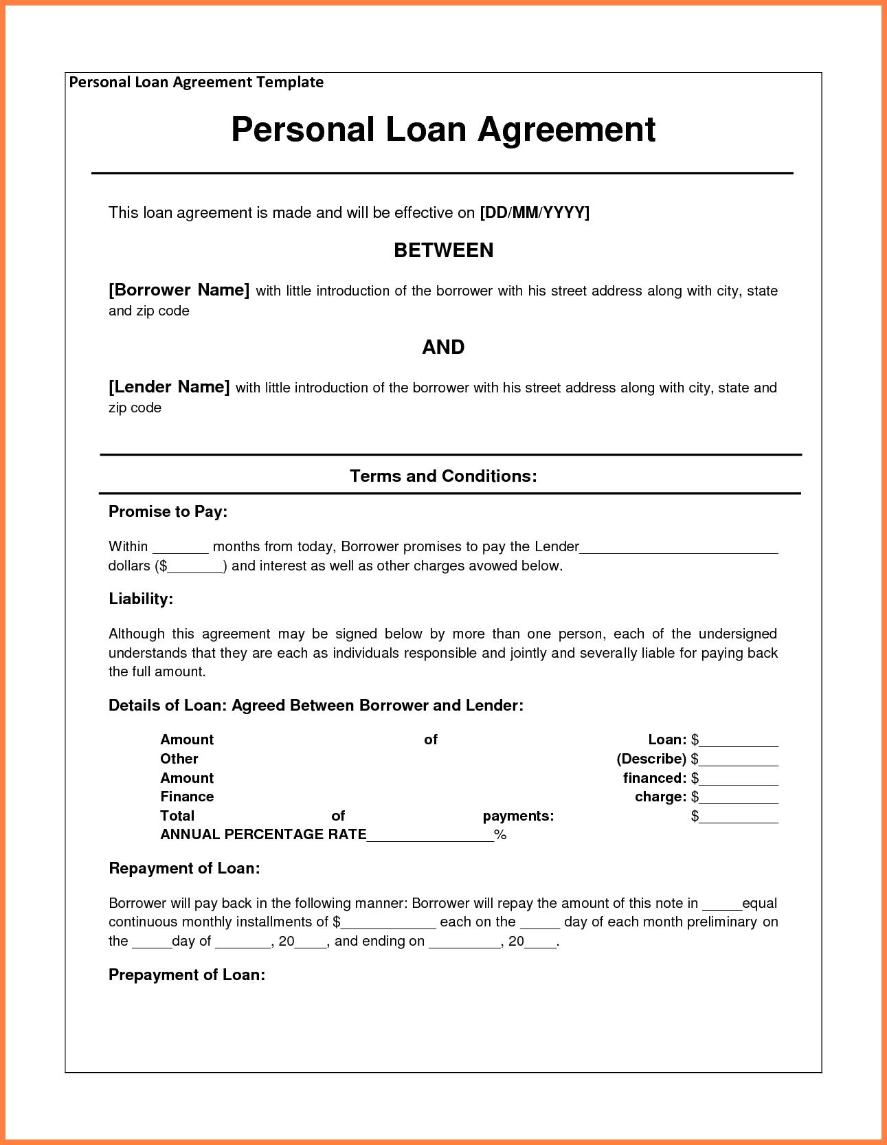 Personal Loan Agreement Between Friends полезные советы