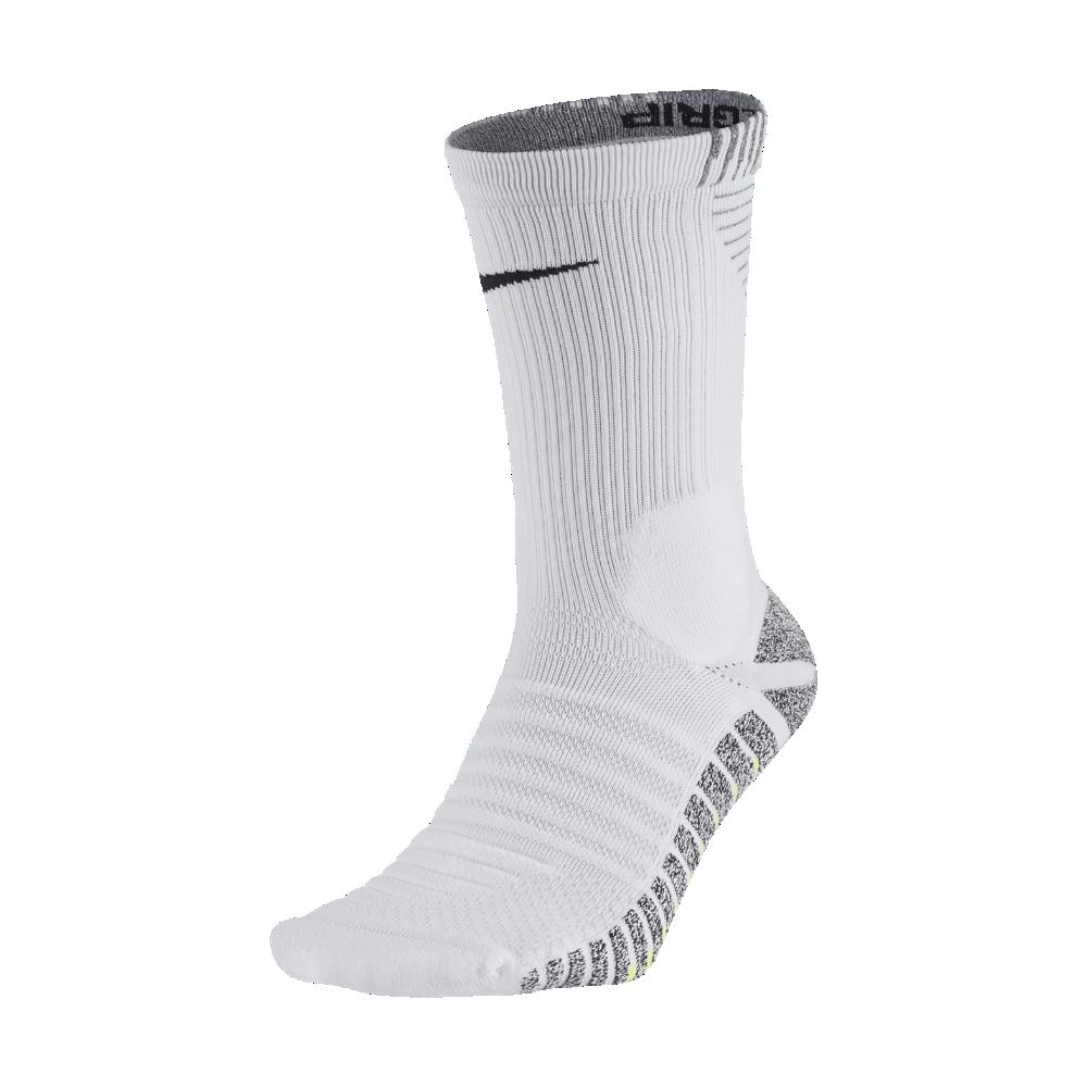 ea6886358fa8 Nike NikeGrip Strike Cushioned Crew Soccer Socks Size 4-5.5 (White ...